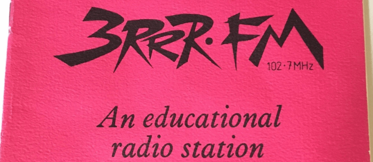 Front cover of 3RRR booklet