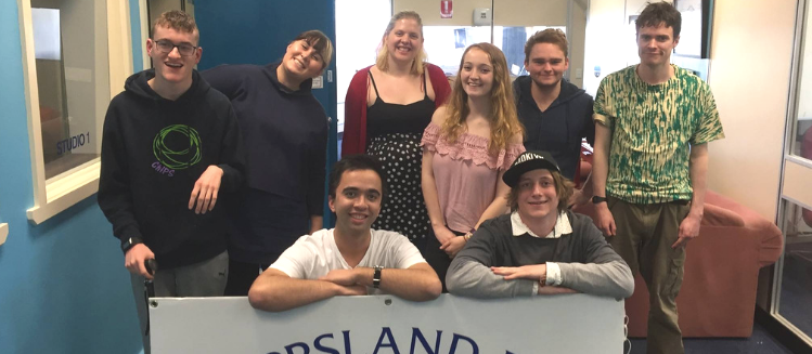 Group of young people at Gippsland FM