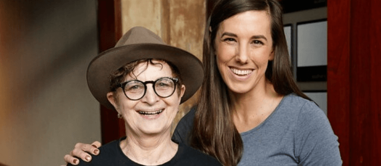 Bronwyn Mehan and Ella Watson-Russell standing side-by-side smiling