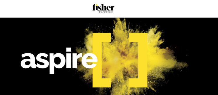 Fisher recruitment logo with 'aspire' as feature image