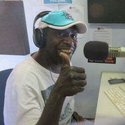 Community radio broadcaster Wildren Nelson from Yuendumu.